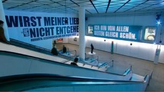 LichtamEndedesTunnels, Installation von Atelier Markgraph für das Schauspiel Frankfurt zur Luminale 2010