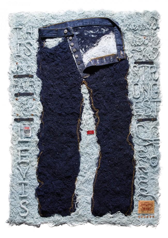 Stefan Sagmeister, »Levi's, The Strongest Thread«, 2008, 2 Posters © Stefan Sagmeister