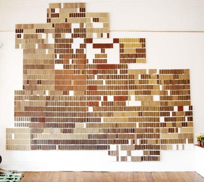 Aus den vielen verschiedenen Tonarten Hollands entstand eine Art Landkarte aus Tonziegeln  © Atelier NL