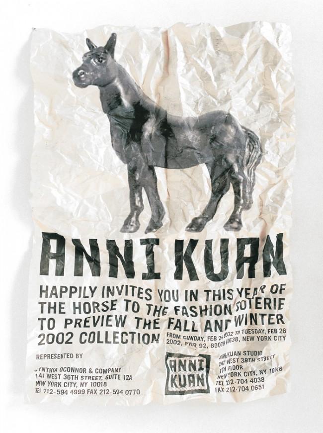 Stefan Sagmeister, »Anni Kuan Brochure (Horse)«, 2002 © Stefan Sagmeister