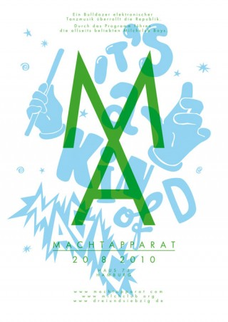 Titel: Machtapparat (1-3)   Gestalter: Falko Ohlmer   Auftraggeber/Kunde: Milchclub Boys DJ Team
