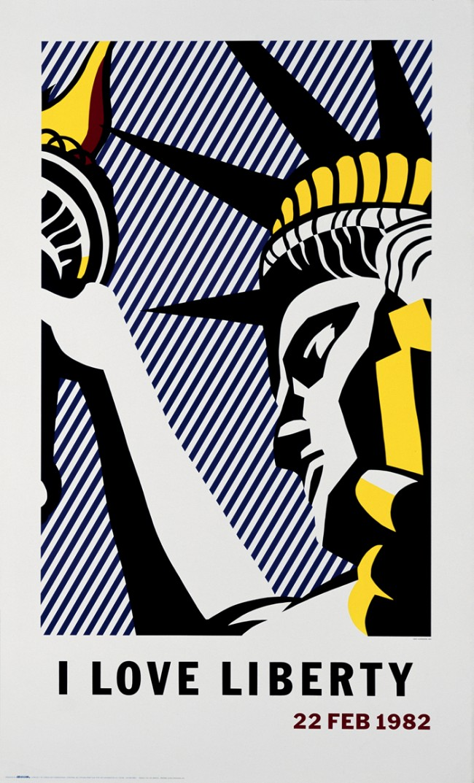 Roy Lichtenstein (1923 – 1997) I Love Liberty, New York, 1982, © VG Bild-Kunst, Bonn 2011