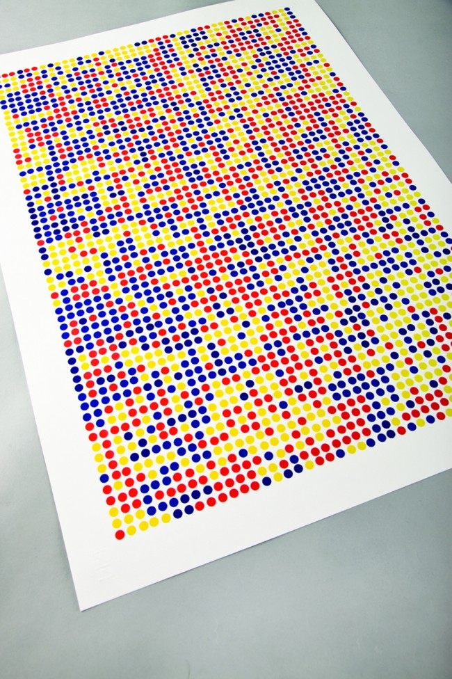 Client: self-initiated, A2 poster, hand rendered on fabriano with 8mm avery stickers   © Swollen