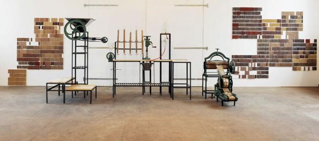 Auf dieser Maschine entstanden die Tonziegel © Atelier NL