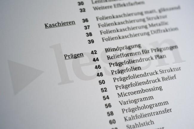 »Extra – Enzyklopädie der experimentellen Druckveredelung«, Birkhäuser Verlag, 2009