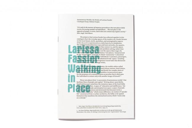 Katalog für die Berliner Künstlerin Larissa Fassler