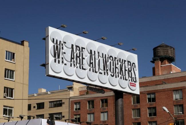 Levis Billboard von Javier Garcia  © SagmeisterInc.