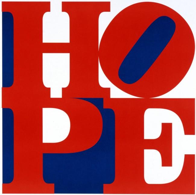 Robert Indiana (*1928) Hope, New York, 2008 Offset / Offset print, 65 x 65 cm © Robert Indiana Courtesy Galerie Thomas, München / Munich