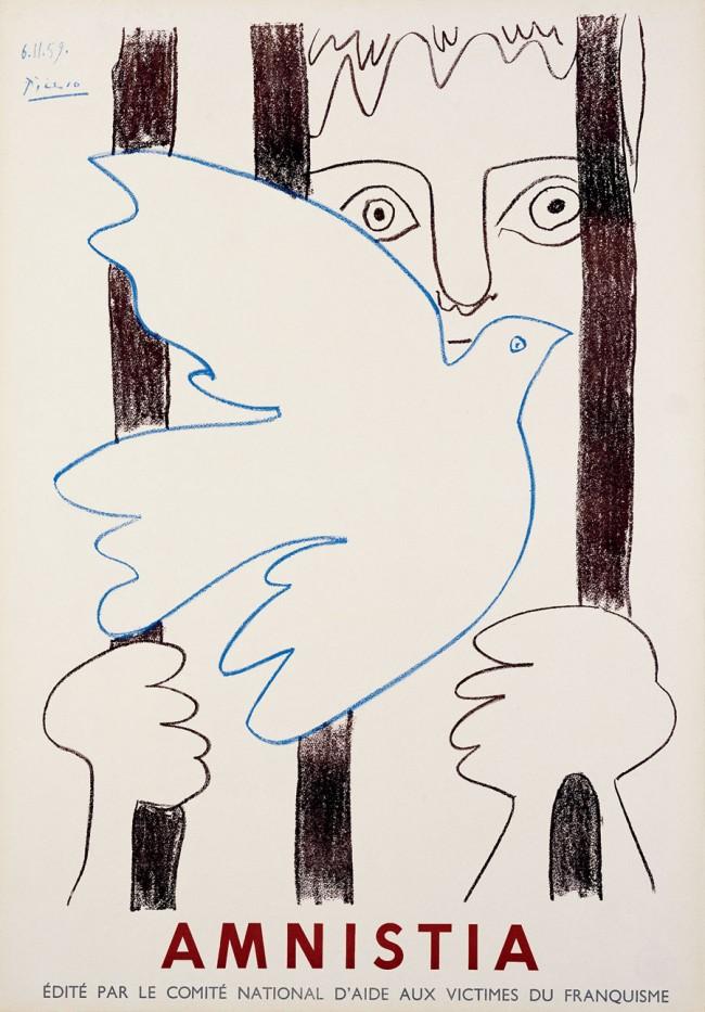 Pablo Picasso (1881–1972) Amnistia / Amnesty, Aix-en-provence, 1959 Lithographie / Lithography, 75 x 52 cm © Succession Picasso / VG Bild-Kunst, Bonn 2011