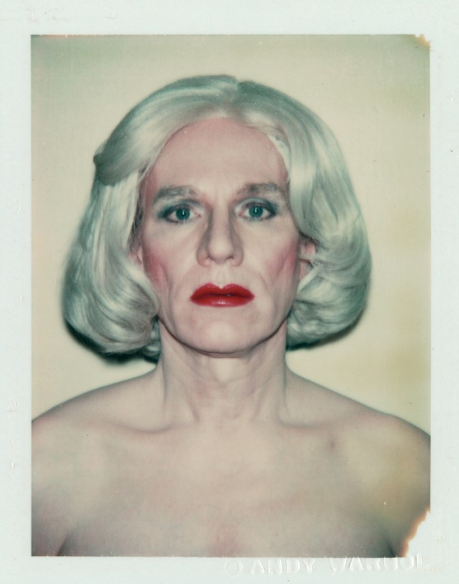 Andy Warhol | Self-Portrait in Drag (Platinum Pageboy Wig), 1981