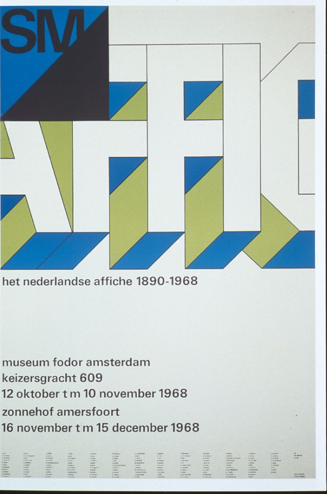 3. Exhibition poster 1968. Foder Museum, Amsterdam