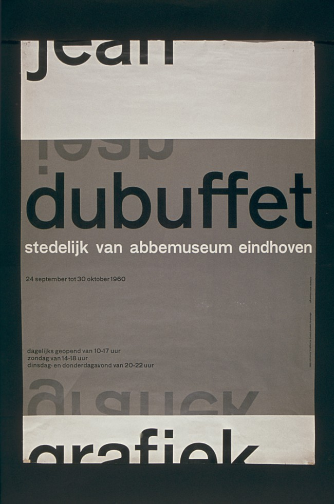 Jean Dubuffet, Poster. 1960. Van Abbemuseum Eindhoven