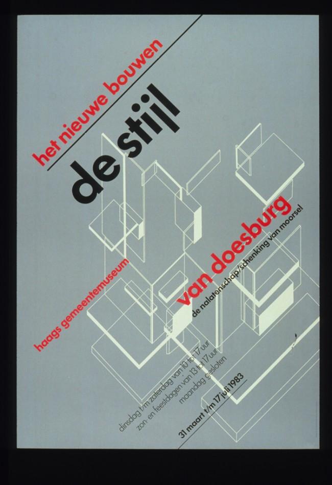 The New Bold Style. De Stijl poster, 1982. Stedelijk Museum, Amsterdam.