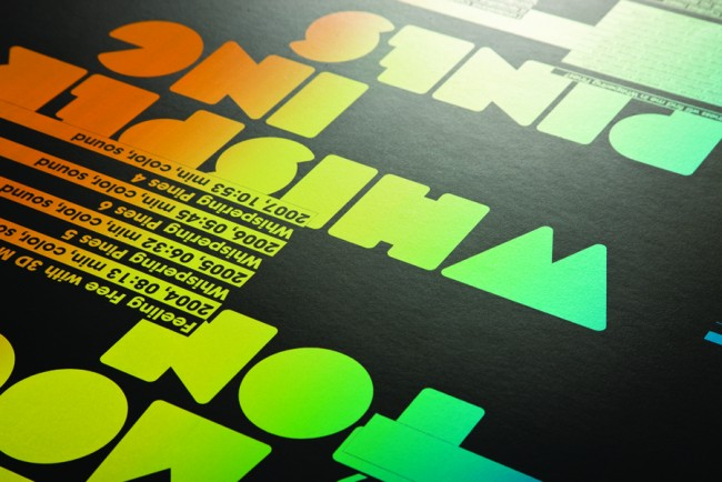 Client: Broadcast Gallery, Dublin, Shana Moulton poster, screenprinted, 5 colour one sided on curious skin 300gsm   © Swollen