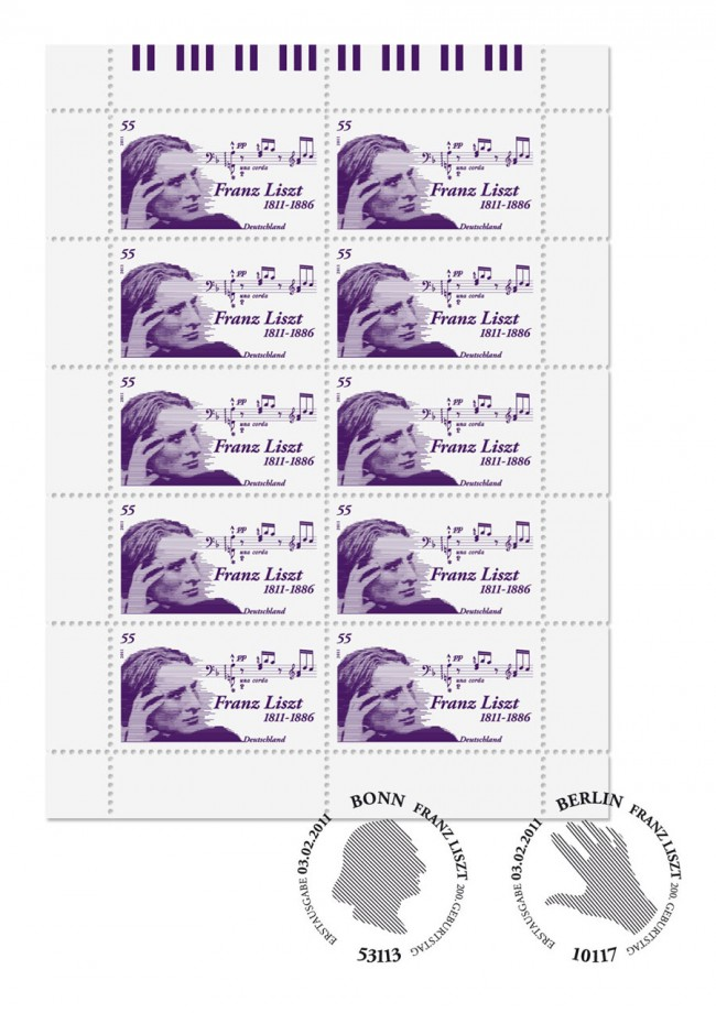 Sonderbriefmarke 200. Geburtstag Franz Liszt
