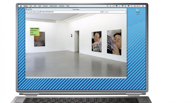 Internetseite für die Künstlerin Tine Steen