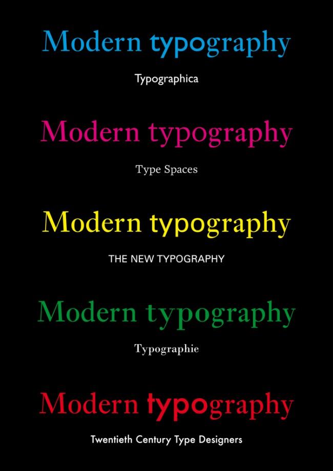 Modern Typography Connection Map von Yujin Kim | © Yujin Kim
