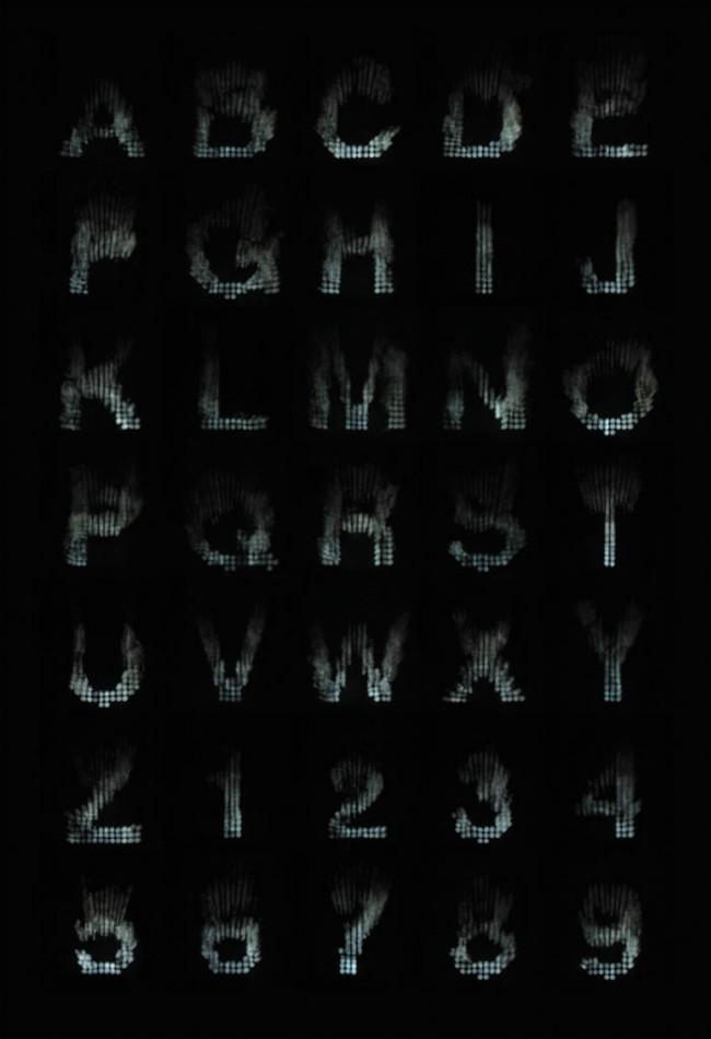 Fog Machine Typographiy von Cameron Zotter © Cameron Zotter