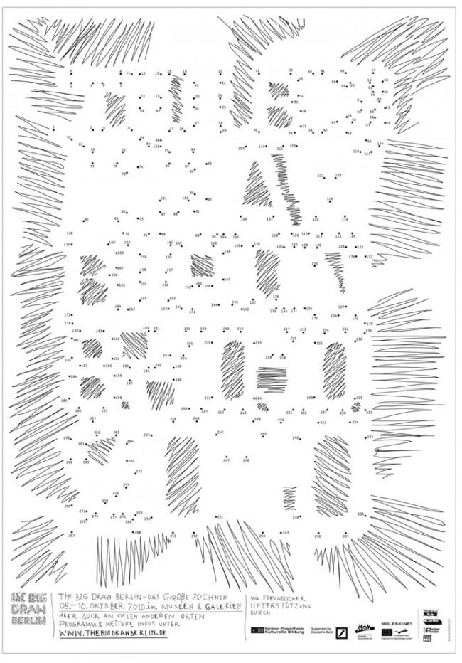 The Big Draw, Plakat zum Zeichenfestival von Ariane Spanier | © Ariane Spanier