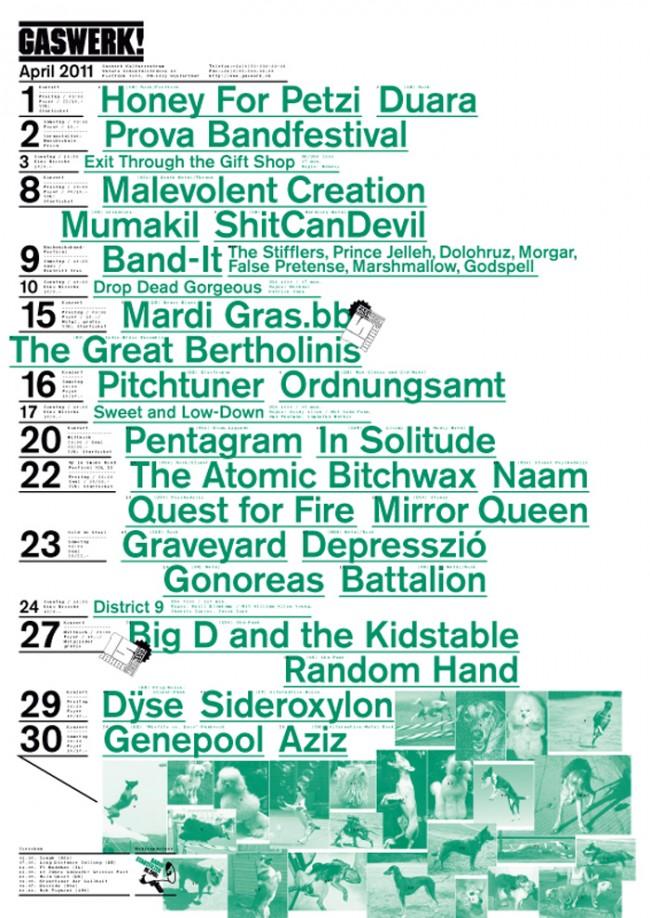 Monatsprogramme für das Kulturzentrum Gaswerk, 2007–2011 A2