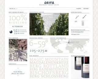 Corporate Website Weingut Josef Leitz von Fuenfwerken Design