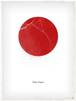 Help Japan-Poster von James White