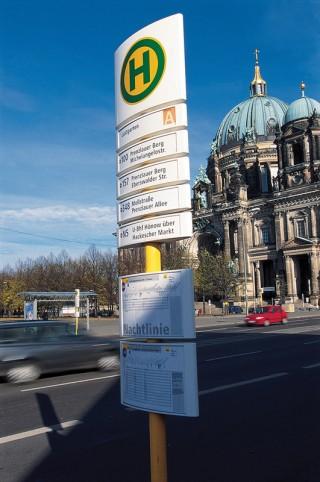 Berliner Verkehrsvertriebe BVG, ab 1990 © Erik Spiekermann