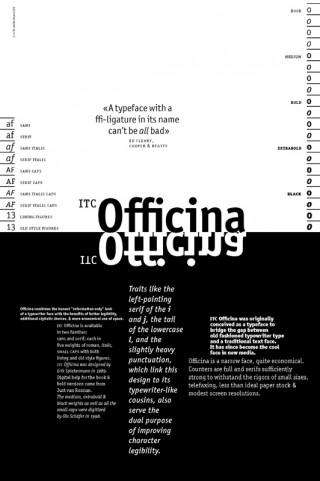 Schrift: ITC Officina 1989 © Erik Spiekermann   Eine Schrift für die Korrespondenz ohne die Nachteile der Schreibmaschinenschrift, aber genauso robust und nicht mit einer klassischen Buchschrift zu verwechseln.