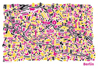 Titel: Vianina-Kartografik - Berlin, Hamburg, Wasserburg, Wien   Gestalter: Nina Wilsmann   Auftraggeber: Eigenwerbung