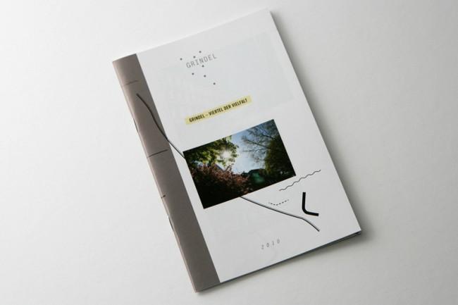 Plakat zur Ankündigung des Internetauftritt für Hamburgs Cityguide / Stadtteilführer für das Grindelviertel, Hamburg | © Carte Blanche Design Studio