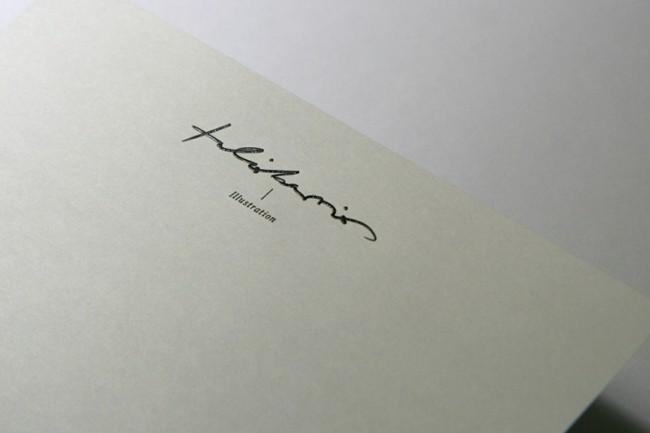 Briefpapier mit Druckveredelung (Stahlstich) für den Illustrator Tulio Barrios | © Carte Blanche Design Studio