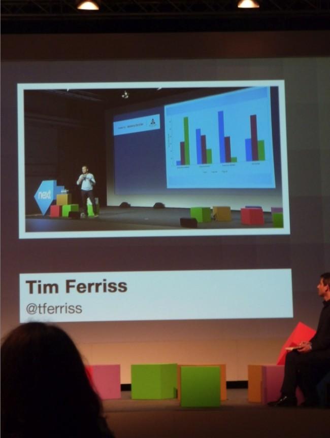 Autor von »4 Hours a week« Tim Ferris on stage