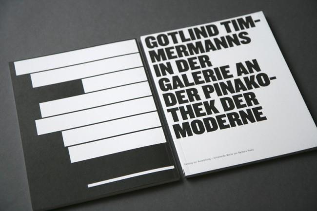 Katalog zur Ausstellung von Gotlind Timmermanns in der Galerie an der Pinakothek der Moderne | © Carte Blanche Design Studio