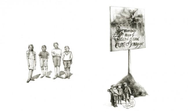 Diplomarbeit: Sachbuch, »Meine deusch-deutsche Familie«, Illustration, 2009