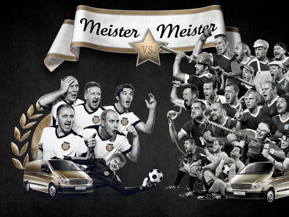 «Meister vs. Meister« von Scholz & Friends für Mercedes