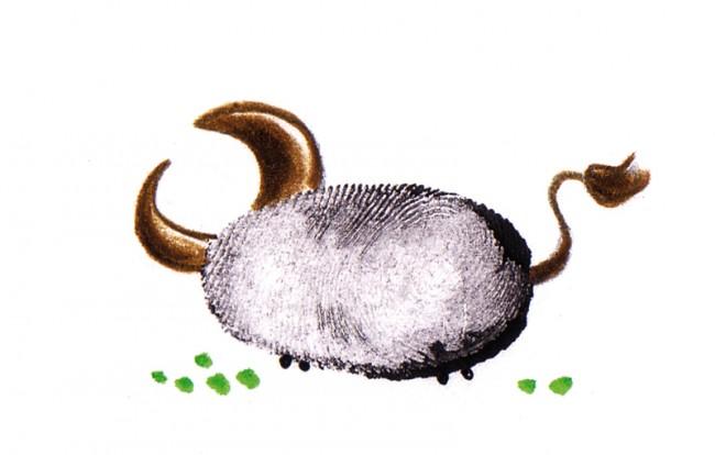 Fingerprint Illustration für das Horoskop der Maxi, Stier