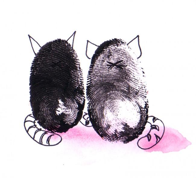 Fingerprint Illustration für das Horoskop der Maxi, Zwillinge