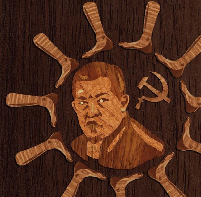 Wooden Being Illustration für KPMG Client´s Magazine