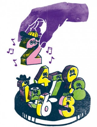 Illustration für das Neon Magazin. Durch den Verkauf von Musik im Internet werden mehr einzelne Tracks gekauft anstatt komplette Alben