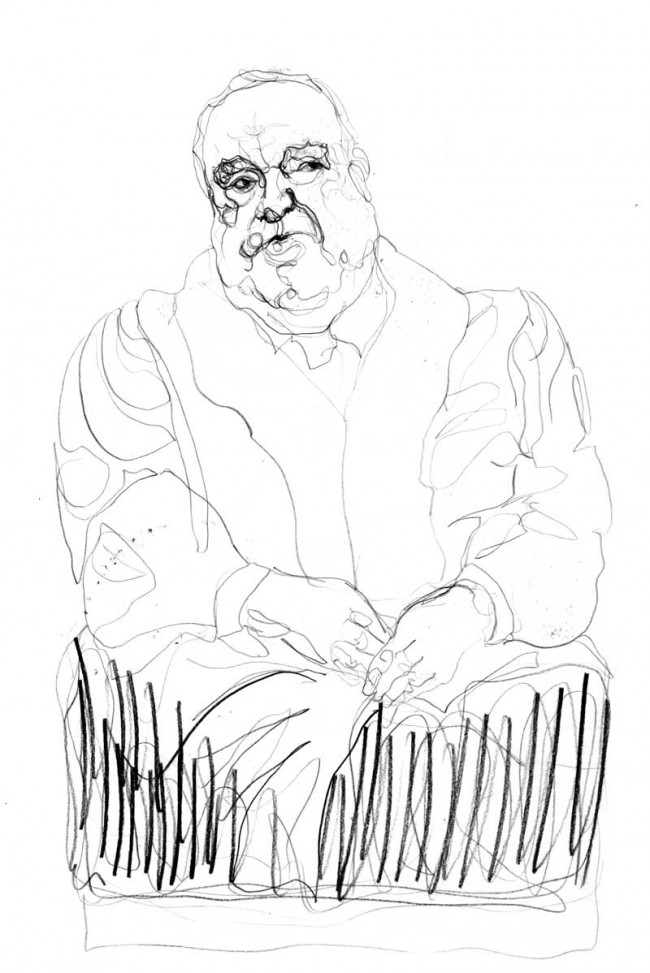 Portrait: Helmut Kohl, Bleistiftzeichnung | © Bianca Classen