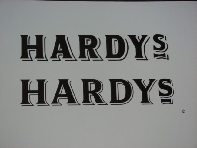 Kris Sowersby für das Weinlabel Hardy's - alt und neu