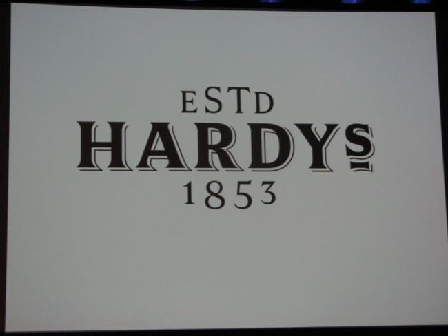 Kris Sowersby für das Weinlabel Hardy's - neu