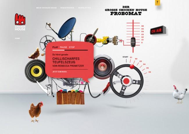 Chicken House Verlag, »Hörprobomat« für die Verlagswebsite | © bell étage