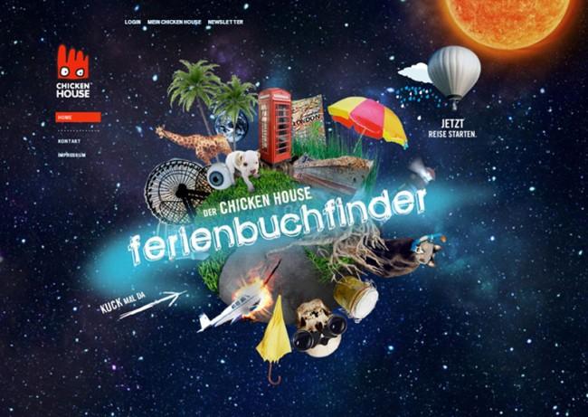 Chicken House Verlag, »Ferienbuchfinder« für die Verlagswebsite | © bell étage