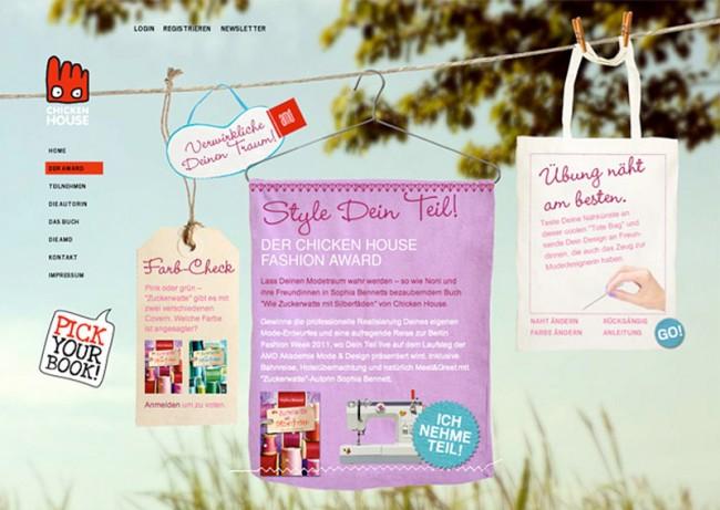Chicken House Verlag, Promotion-Website »Style Dein Teil!« mit interaktivem Nähspiel | © bell étage