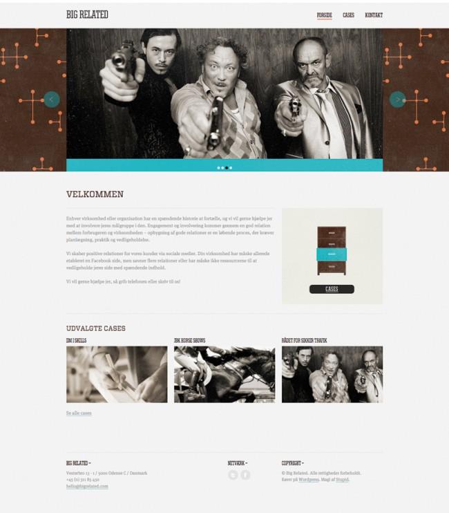 Website für Big Related, einem kleinen Unternehmen, das auf Social Media Marketing spezialisiert ist