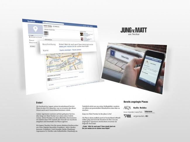 Gün Aydemir erhielt für seine Arbeit »Erster! – Recruiting mit Facebook Places« für Jung von Matt/ Neckar einen silbernen Nagel vom ADC.
