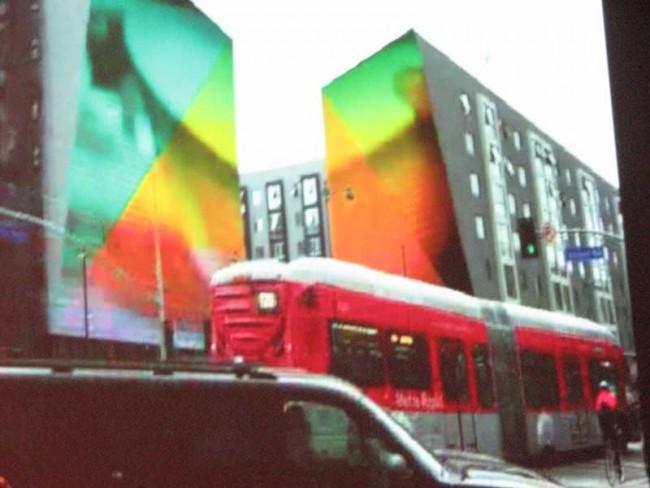 Fassadengestaltung von April Greiman in Koreatown
