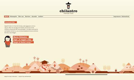 Bild Chilantro Webseite