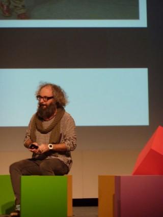 Fredrik-Markus, Creative Director von Creuna, on Stage